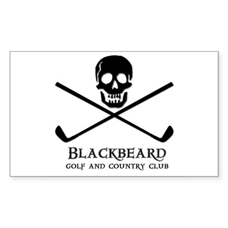 Blackbeard Golf Country Club Rectangle Sticker