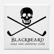 Blackbeard Golf Country Club Tile Coaster