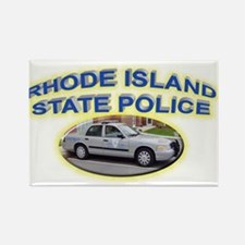 Rhode Island State Police Rectangle Magnet