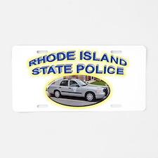 Rhode Island State Police Aluminum License Plate
