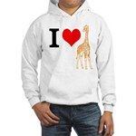 I Love Giraffes Hooded Sweatshirt