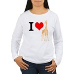 I Love Giraffes Women's Long Sleeve T-Shirt
