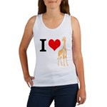 I Love Giraffes Women's Tank Top