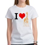 I Love Giraffes Women's T-Shirt