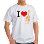 I Love Giraffes Light T-Shirt