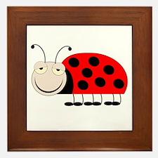 Ladybug Design Framed Tile