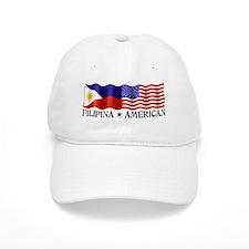Fil Am Flag - Baseball Cap