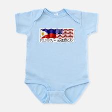 Fil Am Flag - Infant Creeper