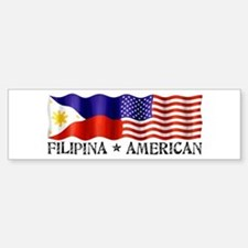 Fil Am Flag - Bumper Bumper Bumper Sticker