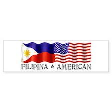 Fil Am Flag - Bumper Car Sticker