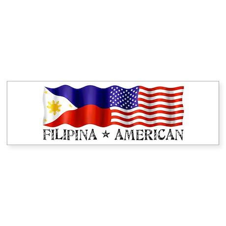 Fil Am Flag - Bumper Sticker