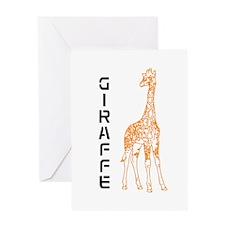 Orange Giraffe Greeting Card