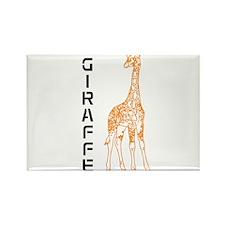 Orange Giraffe Rectangle Magnet (10 pack)