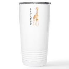 Orange Giraffe Travel Mug