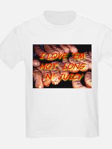 I Love 'Em Hot, Long and Juic Kids T-Shirt