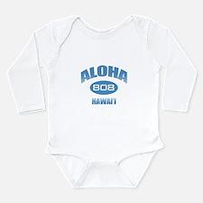 Aloha 808 Long Sleeve Infant Bodysuit