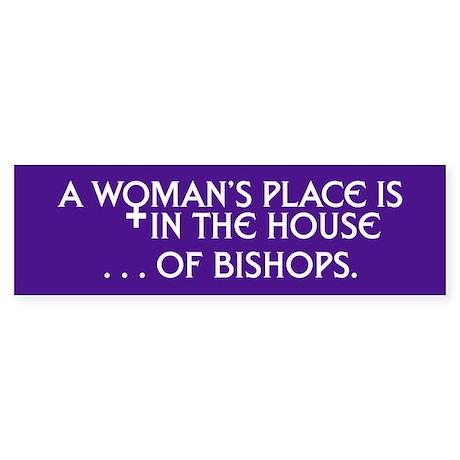 HOUSE OF BISHOPS Bumper Sticker