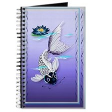 White Koi-Blue Lily Journal