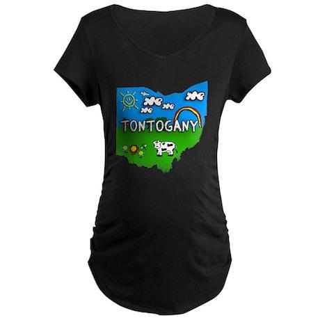 Tontogany, Ohio. Kid Themed Maternity Dark T-Shirt