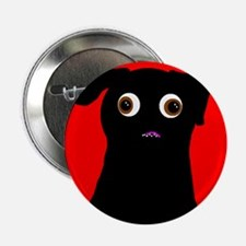 Red Pug Button