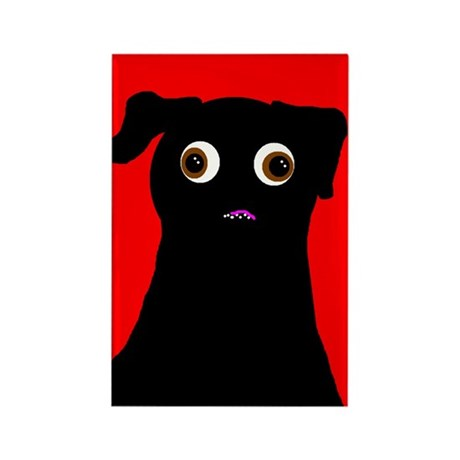 Red Pug Rectangle Magnet
