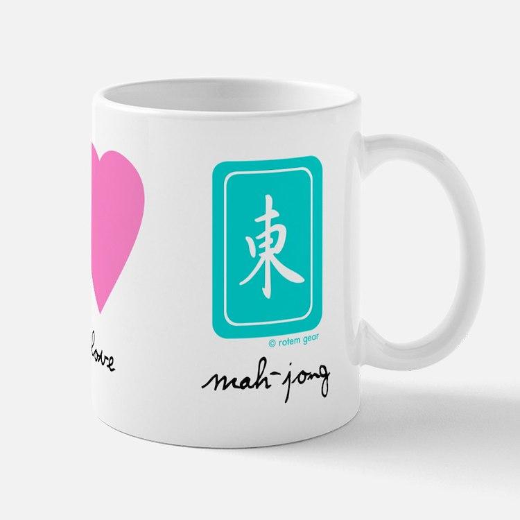 Peace, Love, Mah-Jong Mug