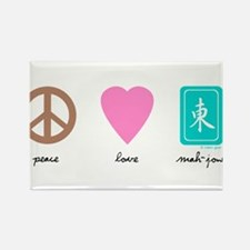 Peace, Love, Mah-Jong Rectangle Magnet