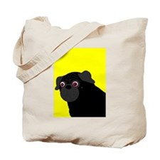 Yellow Pug Tote Bag