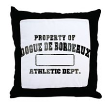Property of Dogue de Bordeaux Throw Pillow