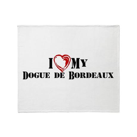 I heart my Dogue de Bordeaux Throw Blanket