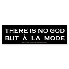 """""""There Is No God"""" Bumper Sticker"""