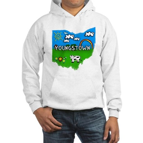 Youngstown, Ohio. Kid Themed Hooded Sweatshirt