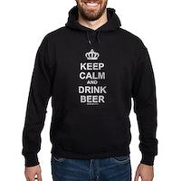 Keep Calm and Drink Beer Hoodie (dark)