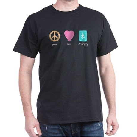 Peace, Love, Mah-Jong Black T-Shirt