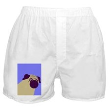 Blue Pug Boxer Shorts