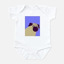 Blue Pug Infant Creeper