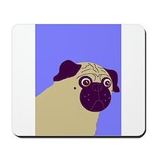 Blue Pug Mousepad