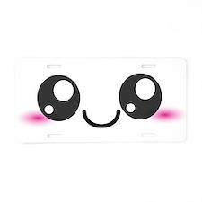 Kawaii Cute Smiley Face Aluminum License Plate