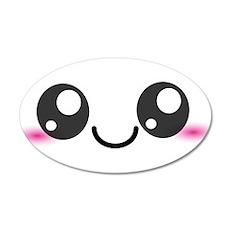 Kawaii Cute Smiley Face 22x14 Oval Wall Peel
