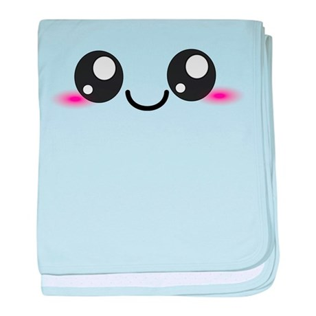 Kawaii Cute Smiley Face baby blanket