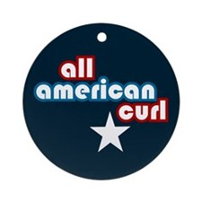 All American Curl Ornament (Round)