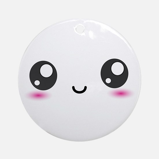 Japanese Anime Smiley Ornament (Round)