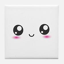 Japanese Anime Smiley Tile Coaster