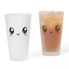 Japanese Anime Smiley Drinking Glass