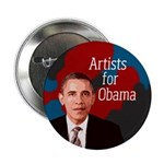 Artists for Obama campaign button