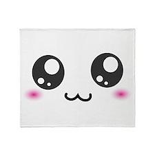Japanese Emoticon Emoji Smile Throw Blanket