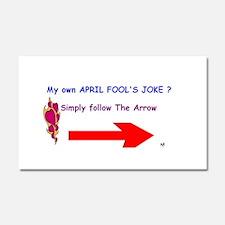 April Fools Joke Car Magnet 20 x 12