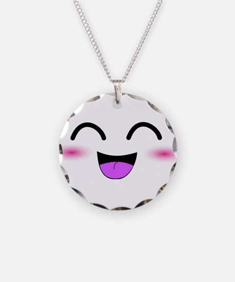 Laughing Kawaii Smiley Necklace