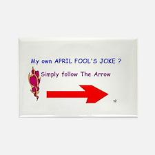 April Fools Joke Rectangle Magnet
