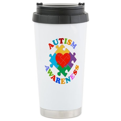 Autism Awareness Stainless Steel Travel Mug